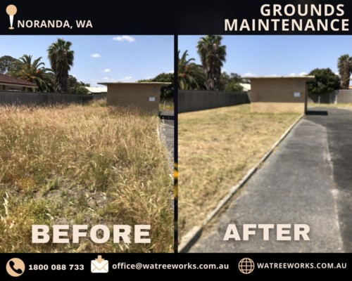 Noranda Before and After grounds maintenance